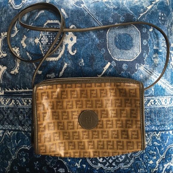 0a986f6d084f Fendi Handbags - Vintage Fendi Zucca crossbody bag - dbls as clutch